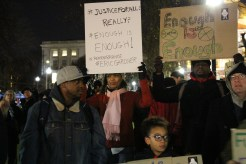 By 6:30 p.m. on Thursday evening, about 50 protesters had gathered on the Boston Common to protest the Eric Garner grand jury decision in New York City. The protest would grow to over 1,000.