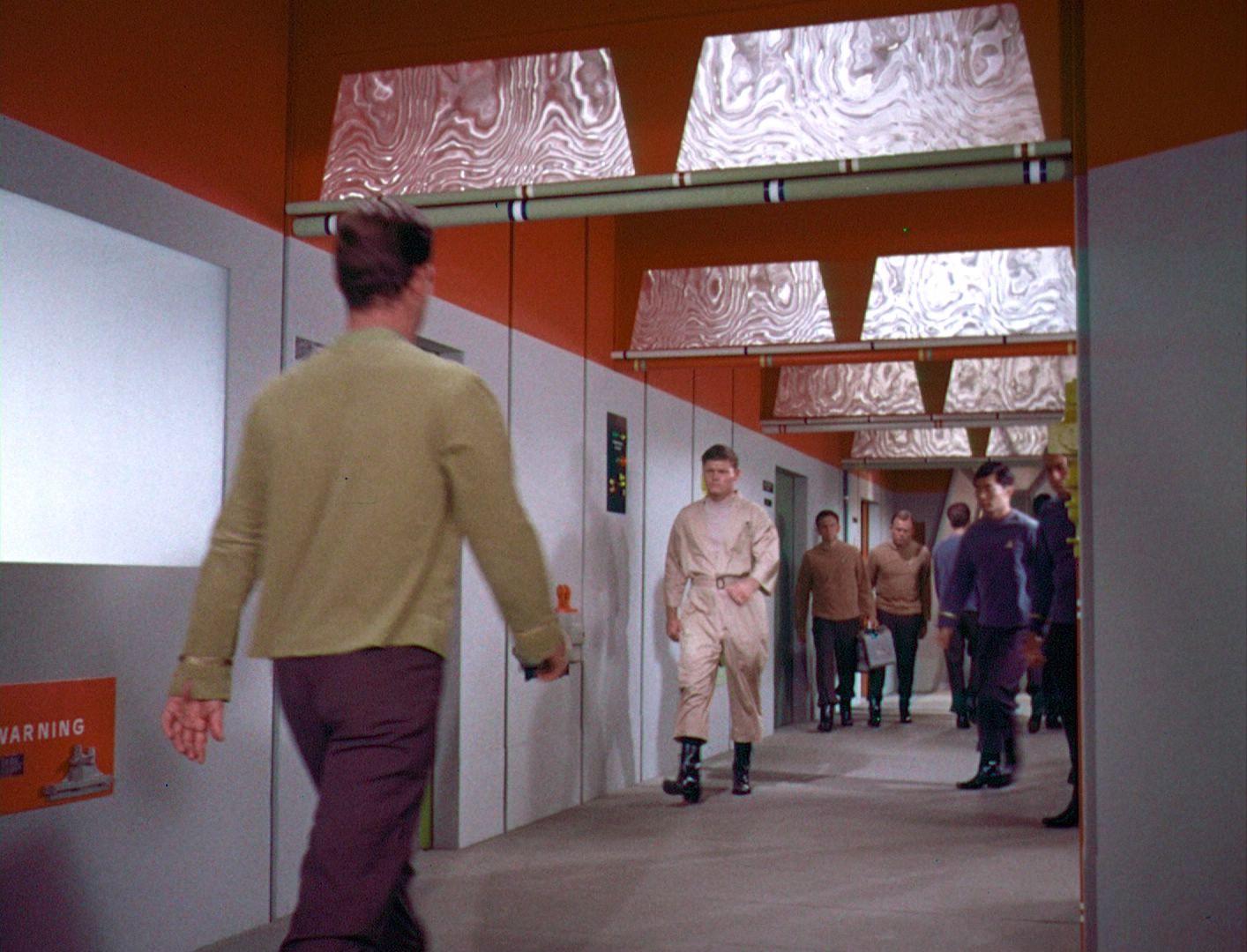 A corridor in Star Trek TOS