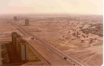The first skyscraper in Dubai - The Dubai World Trade Centre built in 1978