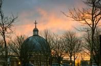 Milton Keynes at sunset