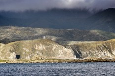 Twin lighthouses across the entrance to Wellington harbour