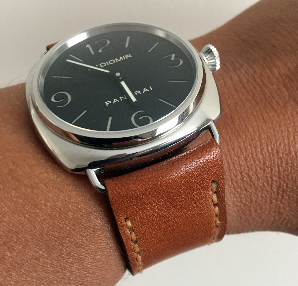 Panerai 210 on Russet leather with butterscotch stitching. © Graham Maclachlan