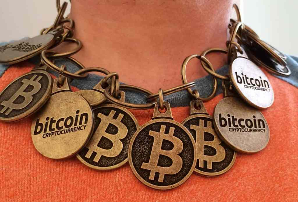 "Bitcoin ""Blockchain"" Necklace by btckeychain, on Flickr"