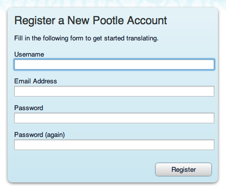 Register to translate Toshl