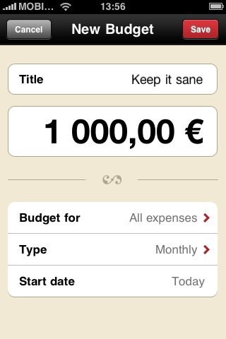 Create a balanced budget