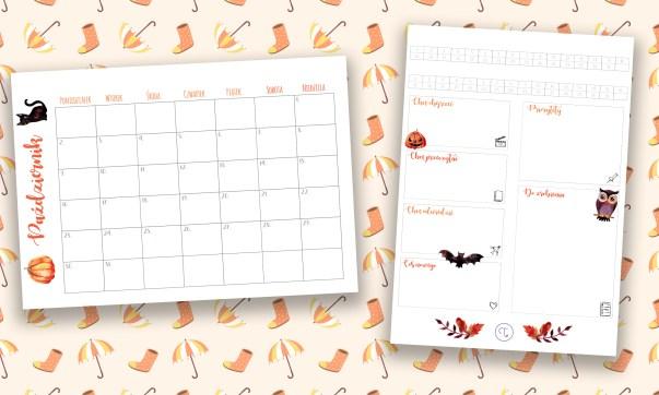Bullet journal planner na październik