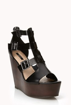 Faux Leather Gladiator Wedges $32.80