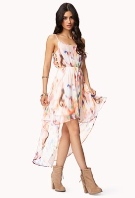 Abstract Print High-Low Dress $24.80