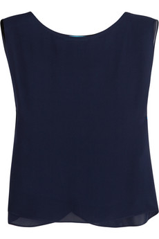 Silk-chiffon T-shirt