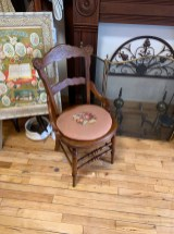 Pair of Needlepoint Seat Chairs