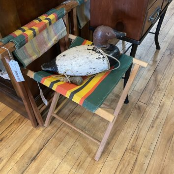 Vintage Canvas Camping Chairs