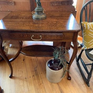 Gorgeous Quartersawn Oak Library Table