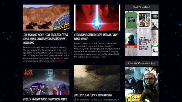 Dork Side Productions, a Star Wars media website