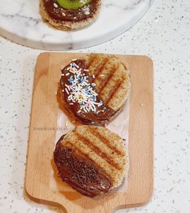 Grilled Choco Cheese Sandwich