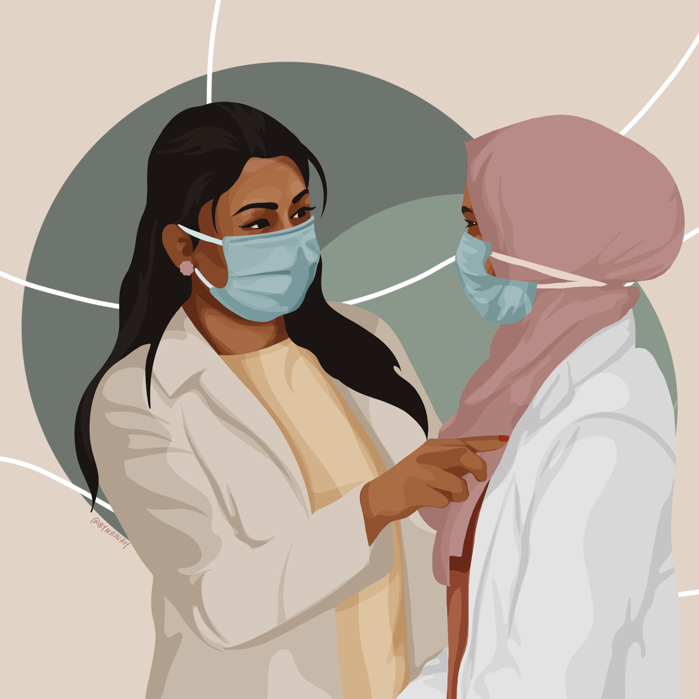 Illustration of a caregiver