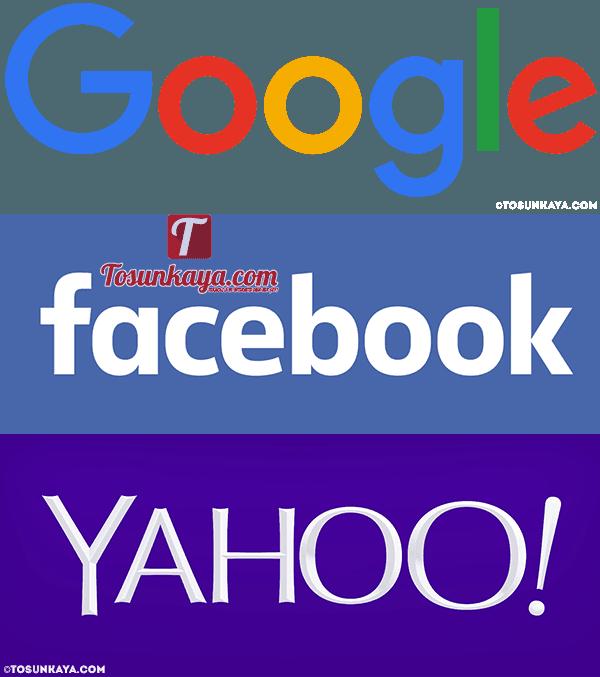 google facebook yahoo