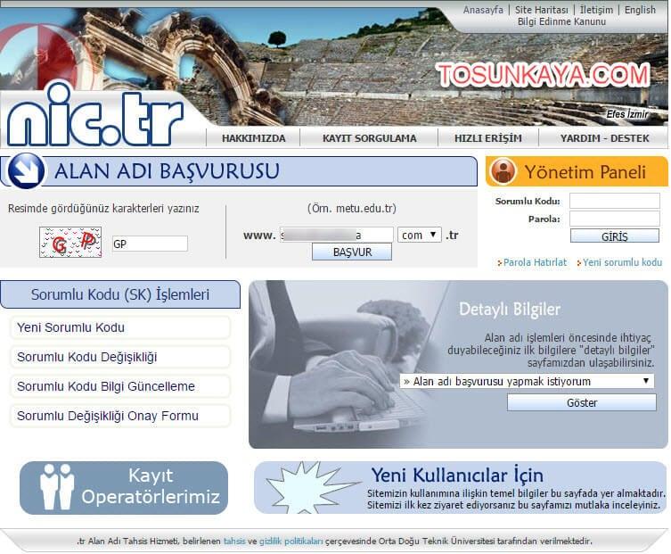 adsoyad.com.tr domain alma belgesiz nic.tr 1