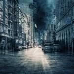 災害が発生してボロボロになった街並み