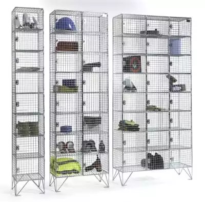 Quick delivery lockers. Wire mesh lockers delivered on a 5 day lead time