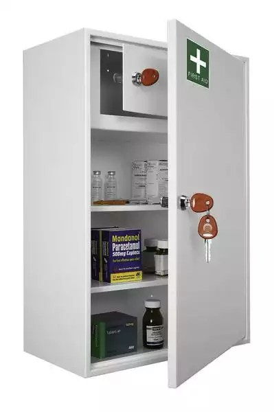 Medical cabinet KFAK 03 the largest in the range with an internal cabinet