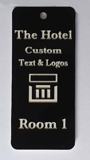 hotel key fob with logo