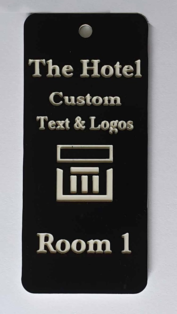 hotel key fob with logo