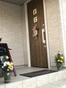 トータルママサポート鍼灸院の門松と正月飾りの写真