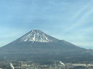 1月の富士山の写真