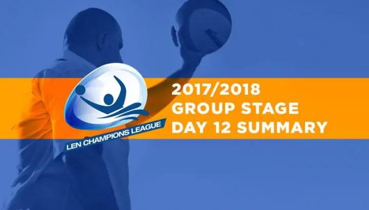 Champions League, Main Round, Day 12 – Summary
