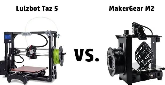 Lulzbot Taz 5 vs MakerGear M2 Comparison