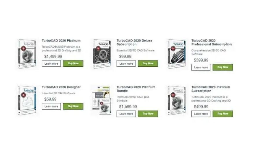 turbocad prices