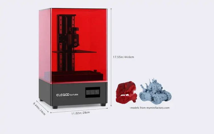 Elegoo Saturn 3d printer