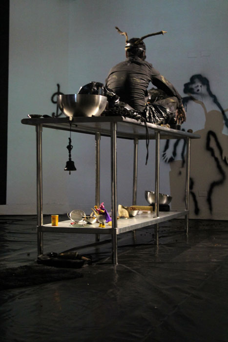 Vela Phelan, Shadow Initiation Spell, Harbor Gallery, UMass Boston, 2012, image@Alice Vogler