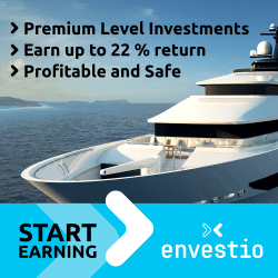 Invest with Envestio and earn a bonus of 0.5% the first 270 days!