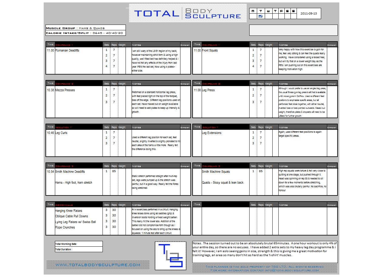 Training Worksheet