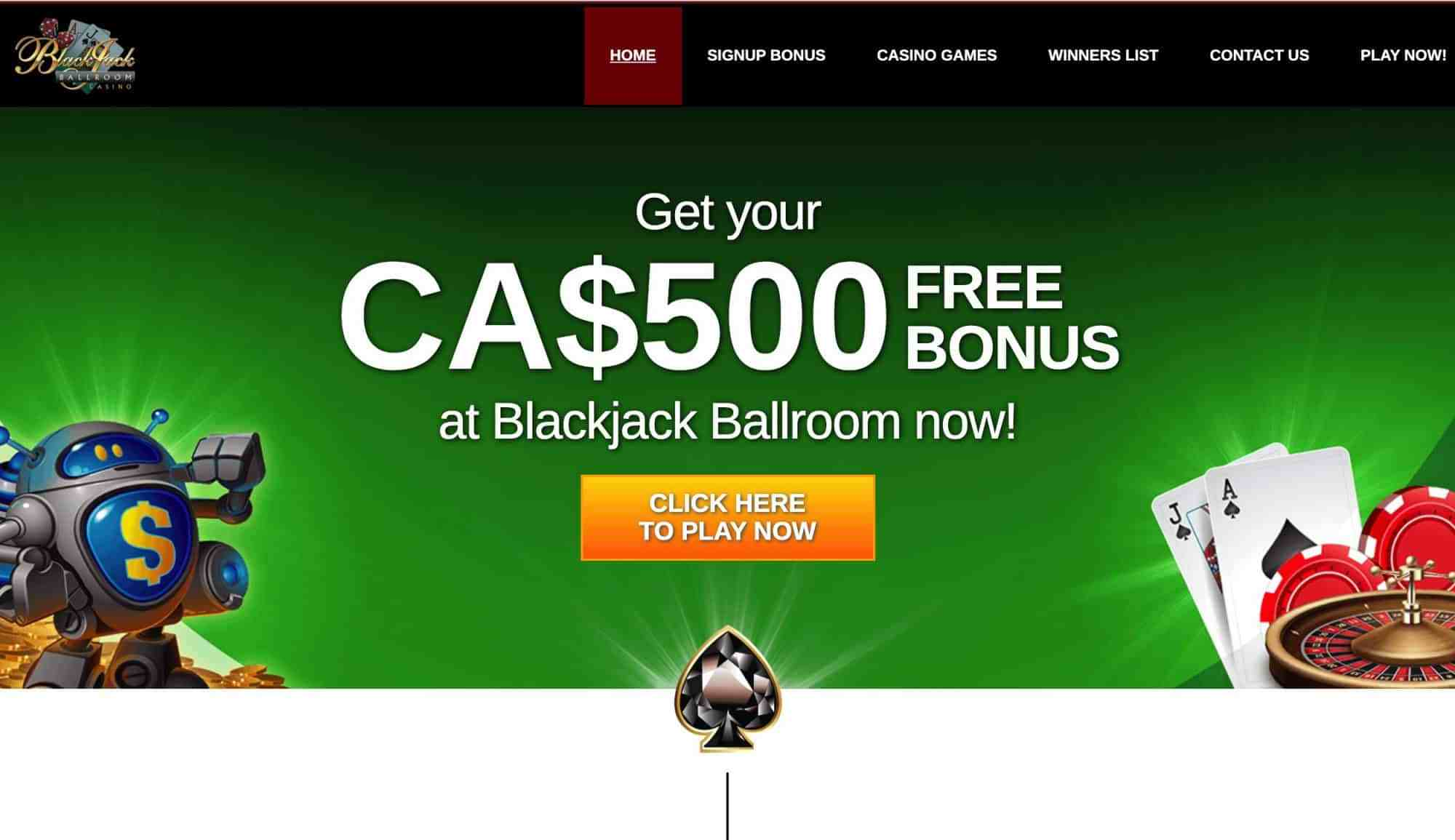 Blackjack Ballroom - Get up to $500 free with 175% match bonus