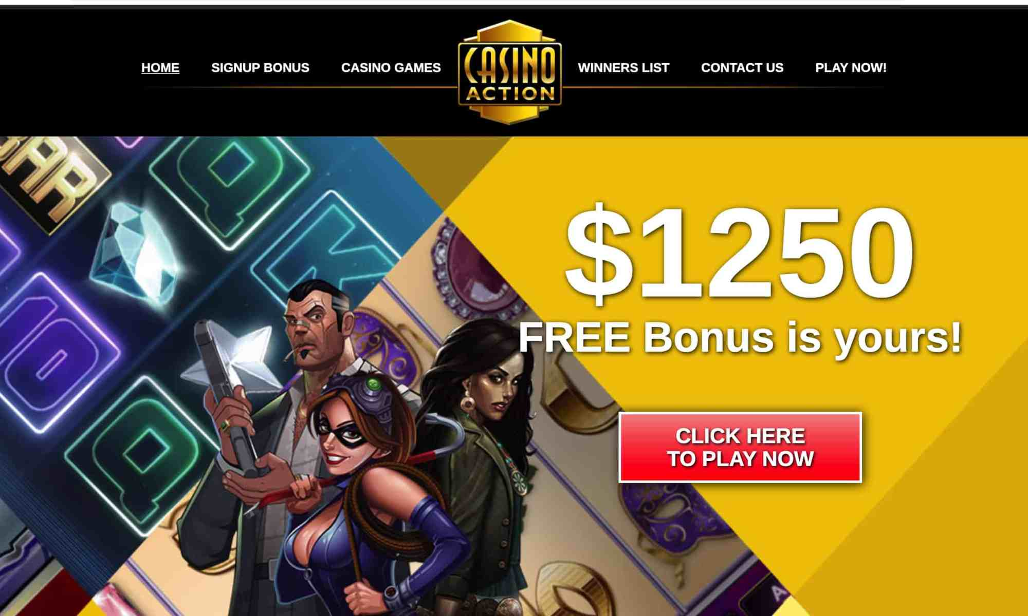 Casino Action - European provider: 1 hour free play