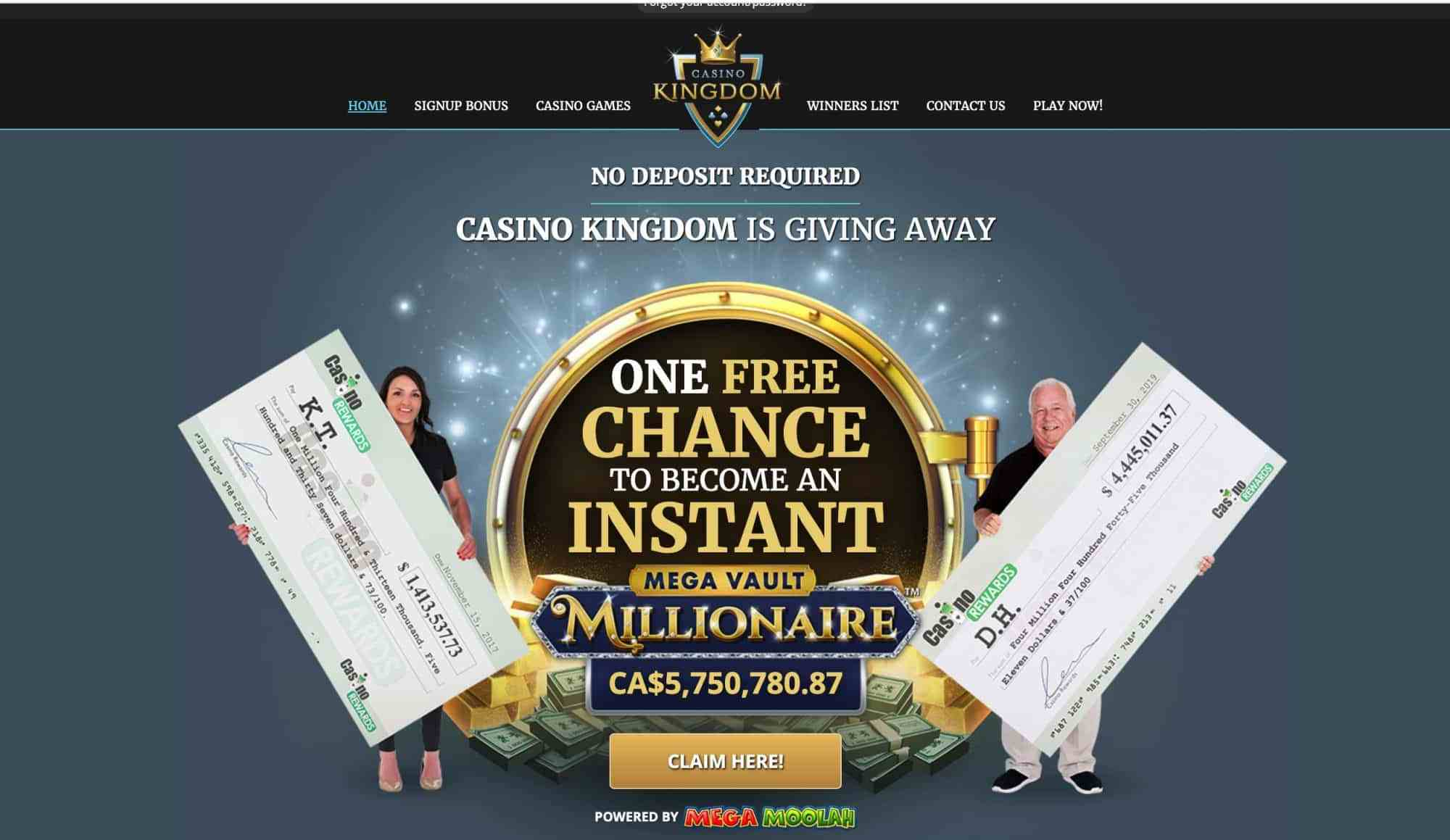 Casino Kingdom - A chance to be an instant millionaire!