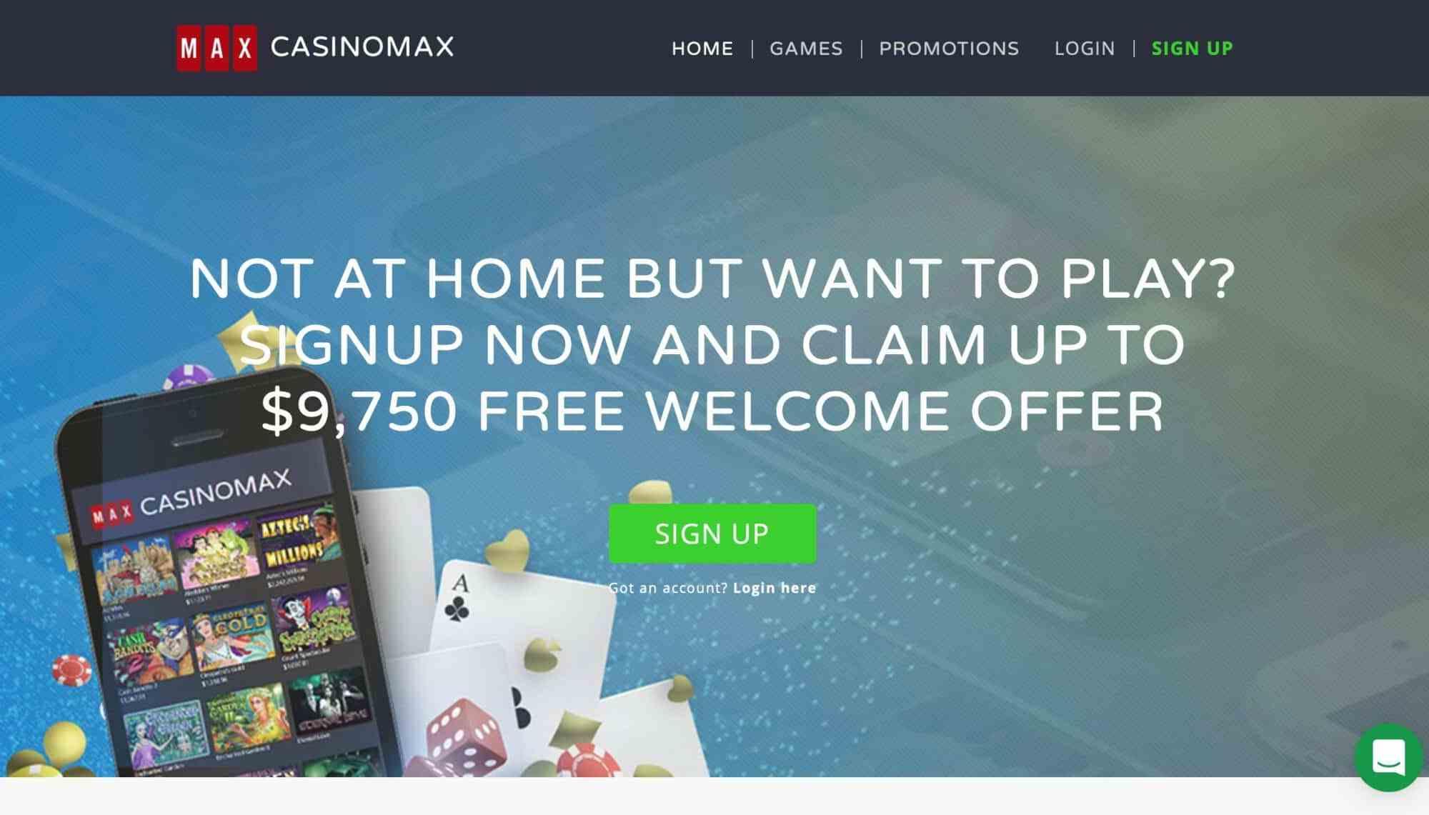 Casino Max - Get 325% Deposit Bonus +25 Free Spins For 7 Days