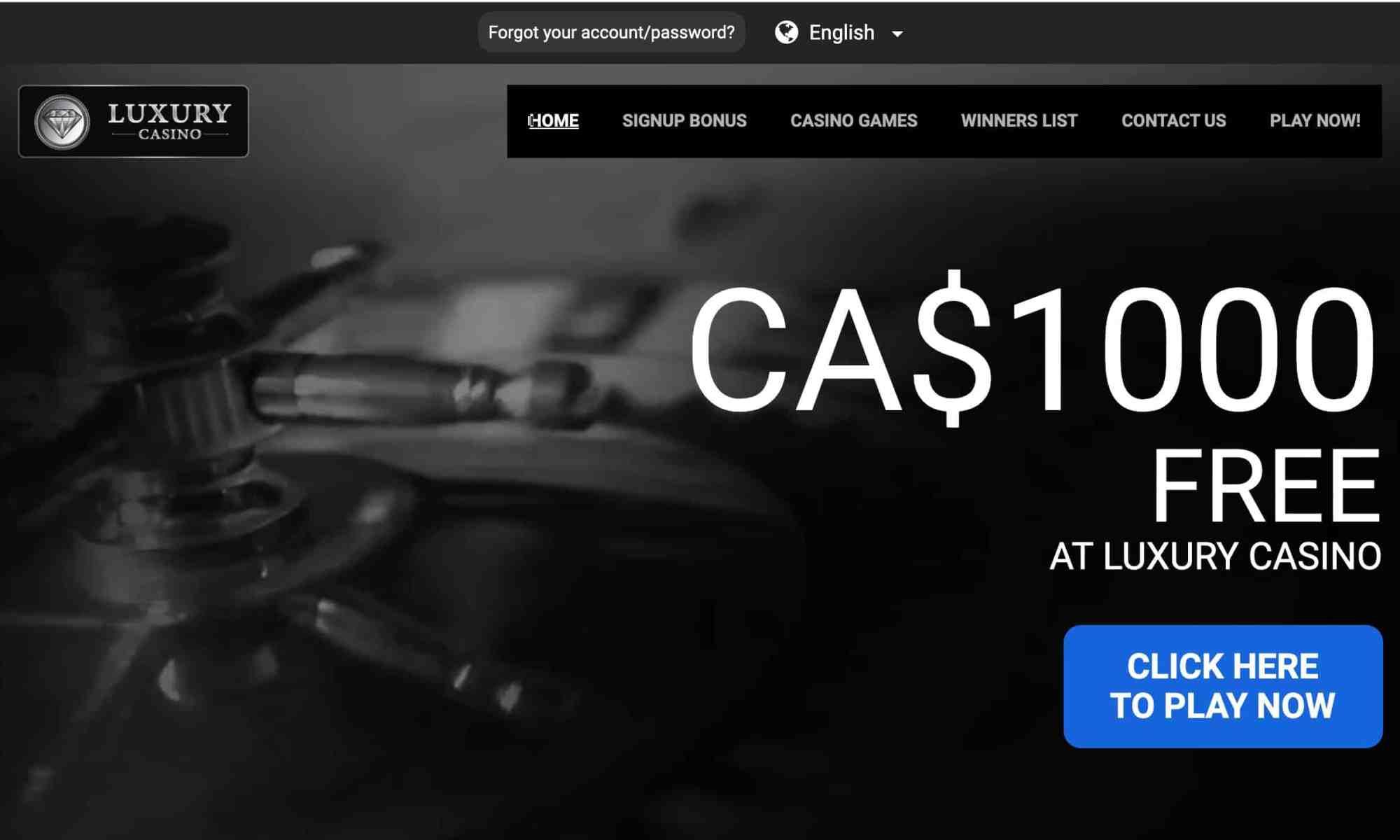 Luxury Casino - $1,000 free bonus in instant play games