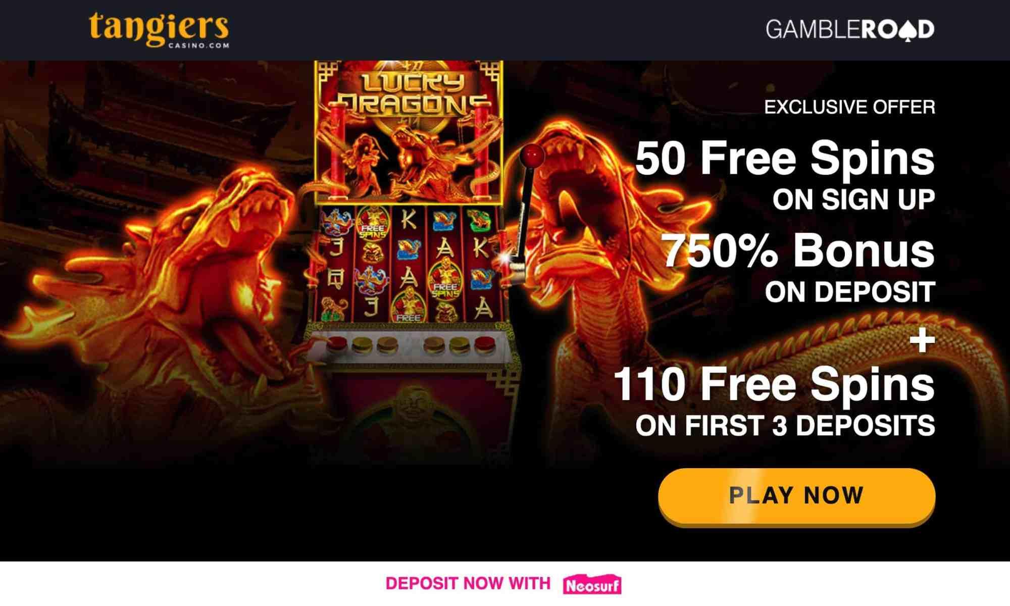 Tangiers Casino - get 750% bonus plus 160 free spins
