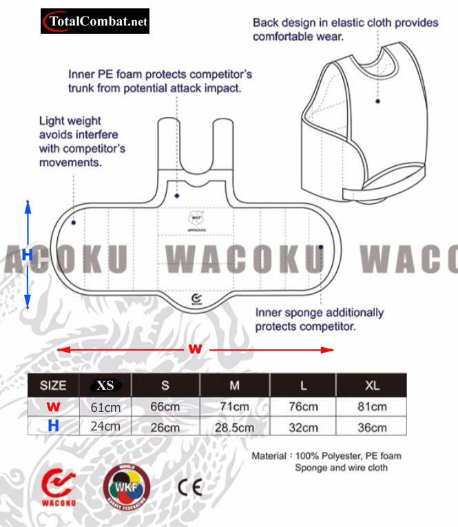 Wacoku WKF Body Protector