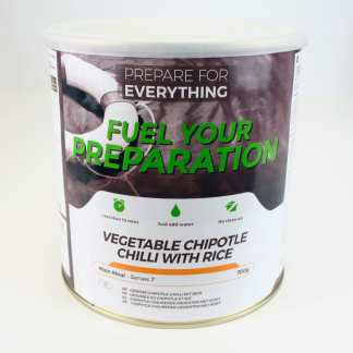 Freeze Dried Tin Vegetable Chilli with Rice