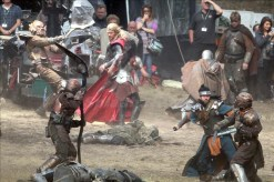 """First look at Chris Hemsworth as """"Thor"""" on the set of the action adventure movie, Surrey, UK"""