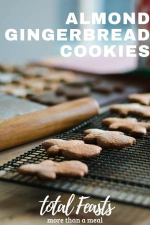 The perfect cookie for gingerbread, almond gingerbread cookies. Great for decorating with the whole family!