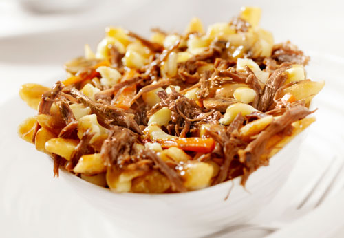 Steakhouse Poutine using Maggi Seasoning