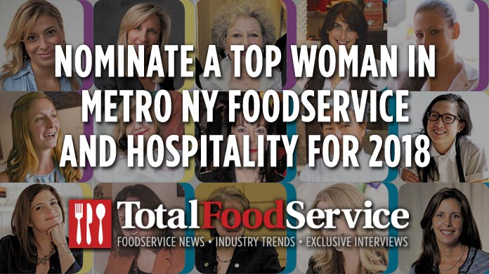 Nominate Top Women in Foodservice and Hospitality Metro NYC 2018