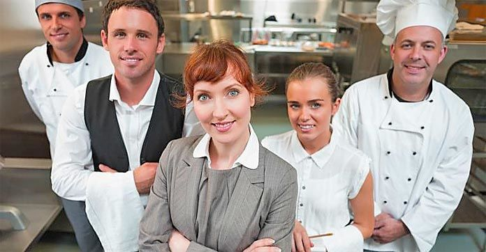 restaurant staff training session hospitality approach competition