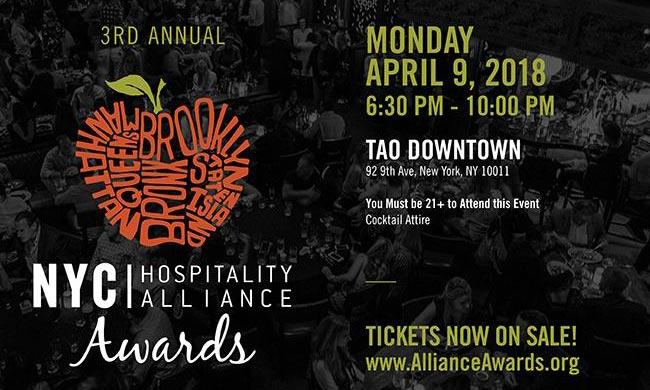 NYC Hospitality Alliance 3rd Annual Awards