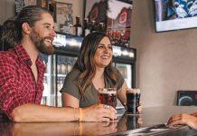 Millenials Tipping Bar Beer